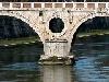 ponti, fiume, tevere, roma, accesso, trastevere, marmi