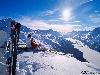 foto vista montagna neve sciare