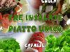 insalate, piatto unico, gustare, pomodori, olio, sale